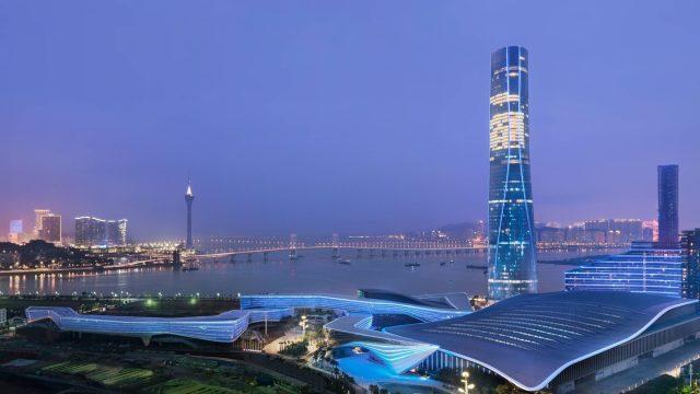 The St. Regis Zhuhai Luxury Hotel - Zhuhai, Guangdong, China - Hotel Night Exterior