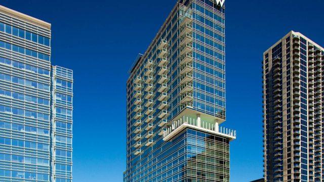 W Atlanta Downtown Luxury Hotel - Atlanta, Georgia, USA - Hotel Exterior Tower View