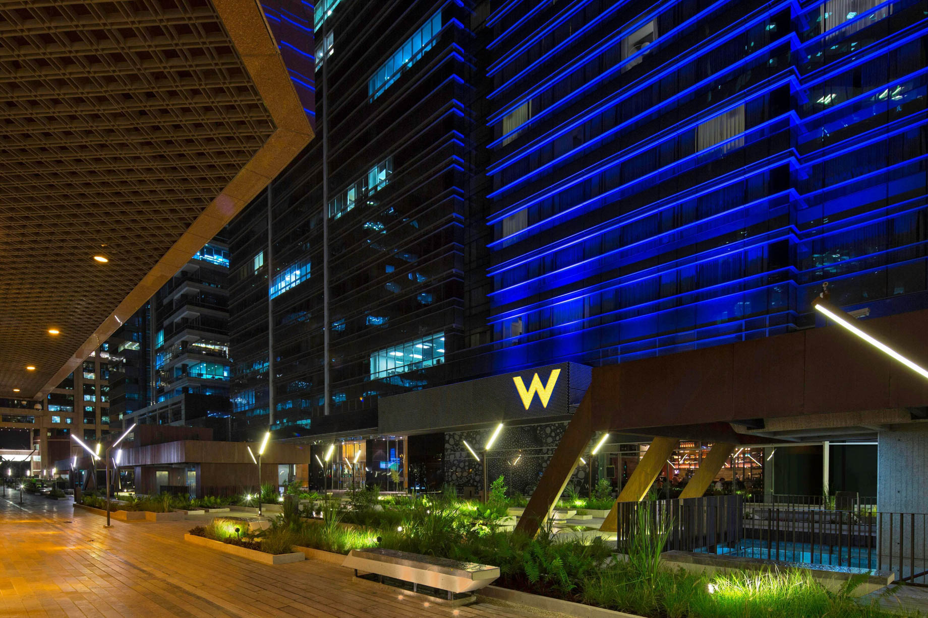 W Bogota Luxury Hotel - Bogota, Colombia - Hotel Entrance Plaza