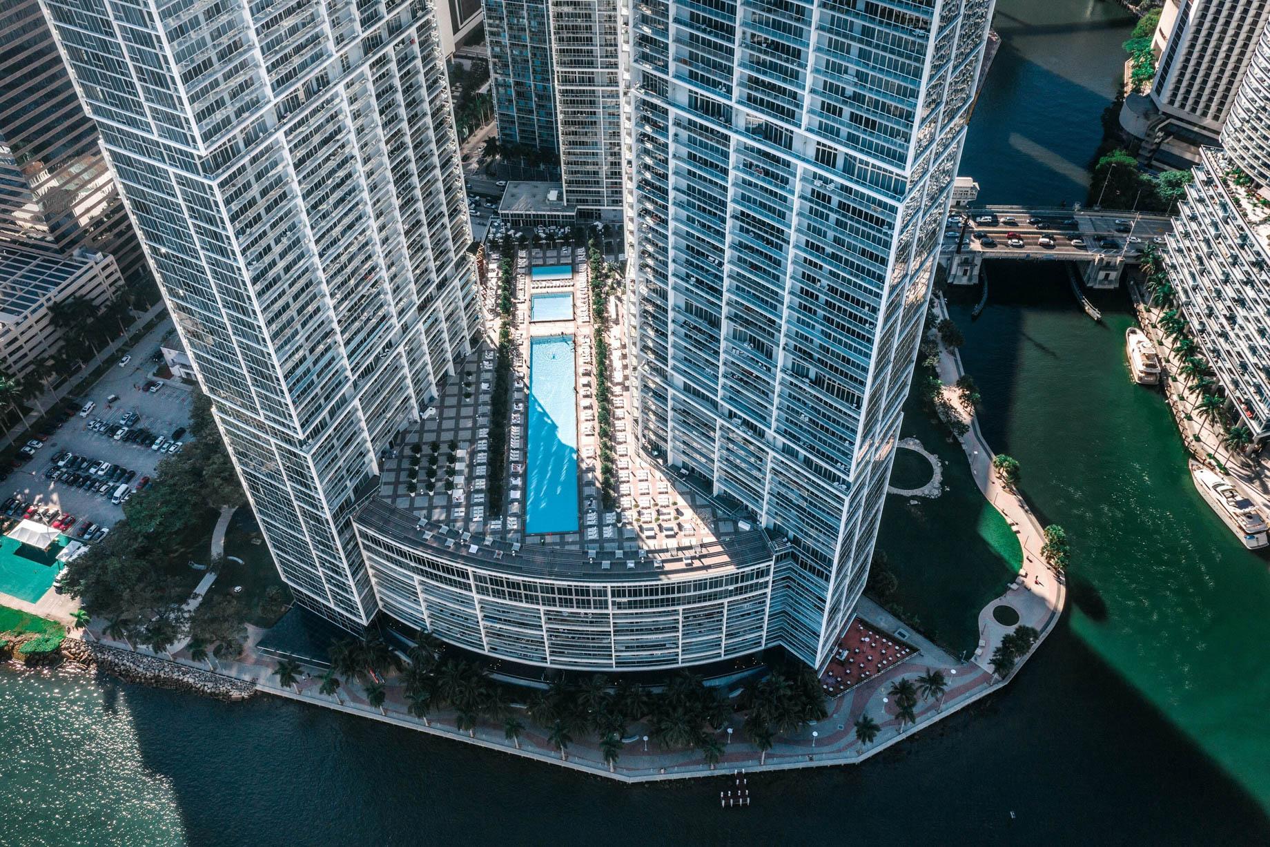 W Miami Luxury Hotel - Miami, FL, USA - Hotel Aerial View