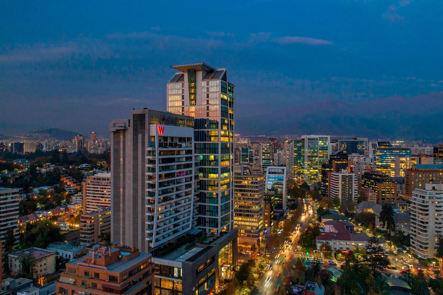 W Santiago Luxury Hotel - Santiago, Chile - W Santiago Exterior
