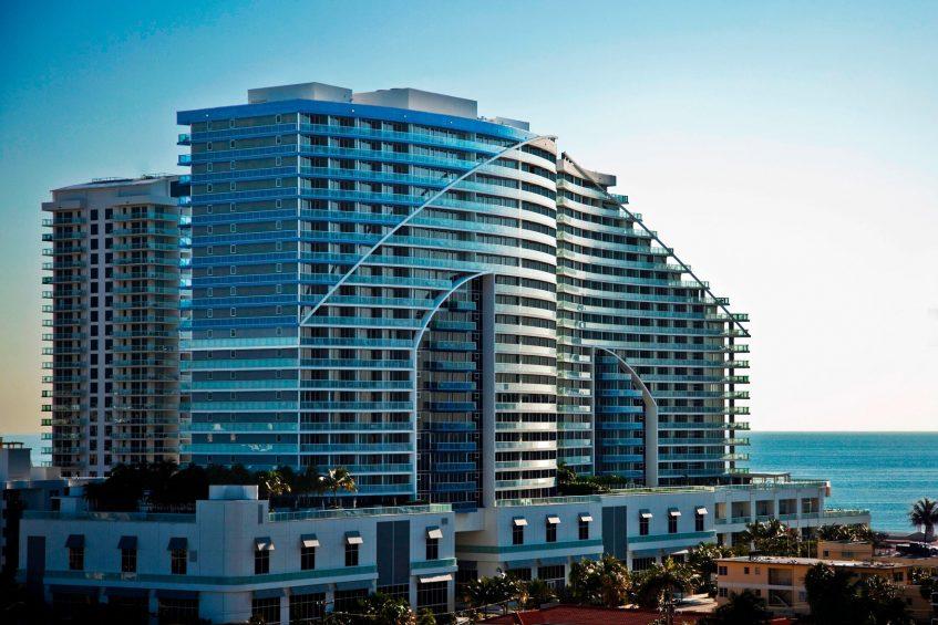 W Fort Lauderdale Luxury Hotel - Fort Lauderdale, FL, USA - Hotel Exterior Ocean View