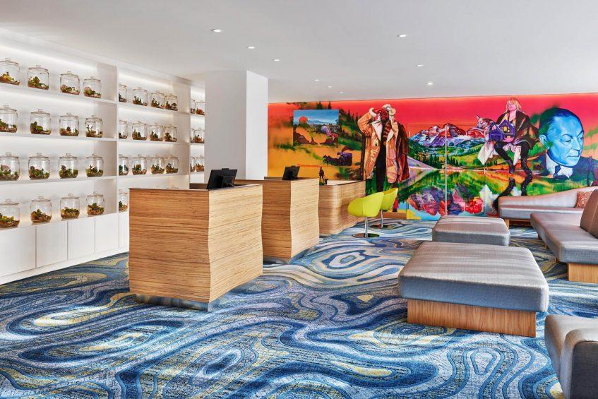 W Aspen Luxury Hotel - Aspen, CO, USA - Lobby Welcome Desk