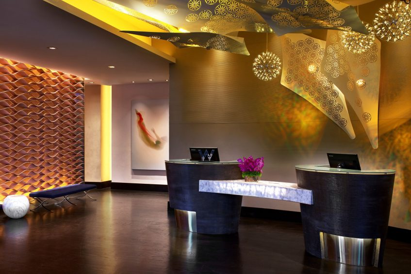 W Los Angeles West Beverly Hills Luxury Hotel - Los Angeles, CA, USA - Lobby Front Desk