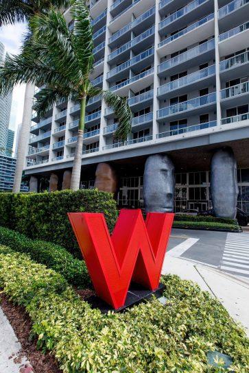 W Miami Luxury Hotel - Miami, FL, USA - Hotel Front Entrance