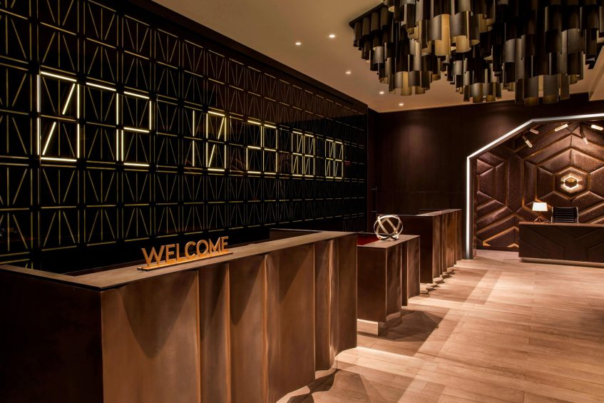 W New York Times Square Luxury Hotel - New York, NY, USA- Lobby Welcome Desk