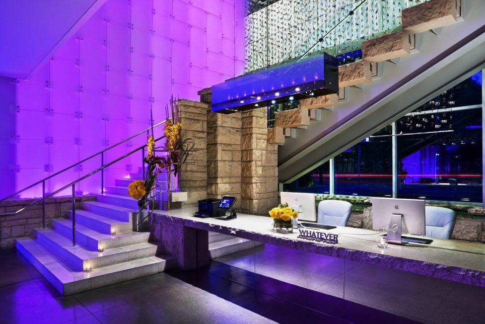 W Dallas Victory Luxury Hotel - Dallas, TX, USA - Lobby Grand Stairs