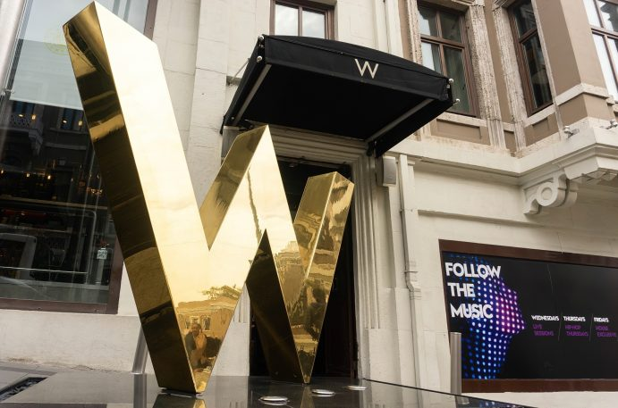 W Istanbul Luxury Hotel - Istanbul, Turkey - Exterior Front W Sign