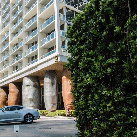 W Miami Luxury Hotel - Miami, FL, USA - Hotel Entrance