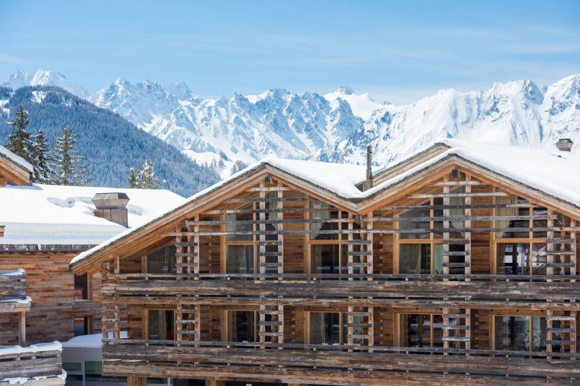 W Verbier Luxury Hotel - Verbier, Switzerland - Hotel Winter Exterior
