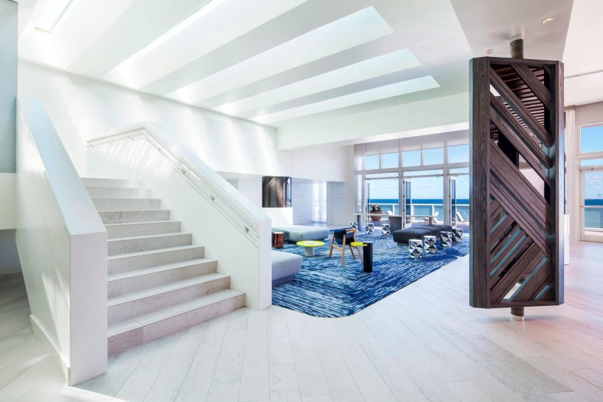 W Fort Lauderdale Luxury Hotel - Fort Lauderdale, FL, USA - Living Room Stairs