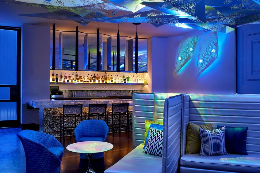 W Los Angeles West Beverly Hills Luxury Hotel - Los Angeles, CA, USA - Living Room Bar Vibe