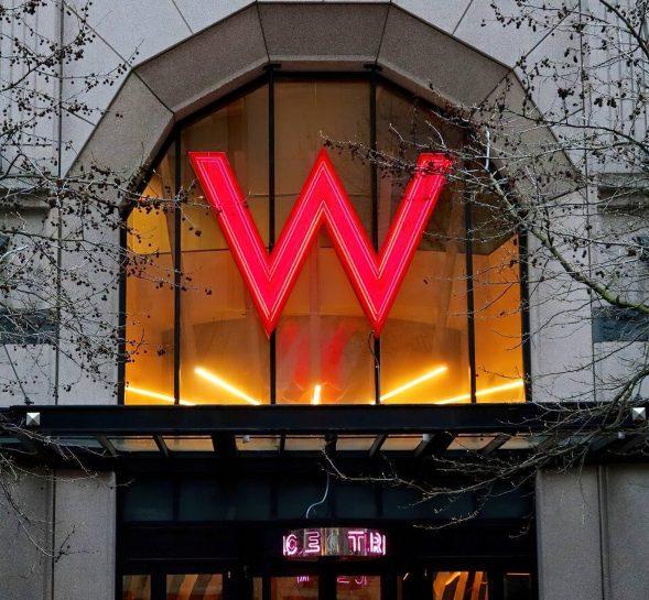 W Seattle Luxury Hotel - Seattle, WA, USA - W Sign