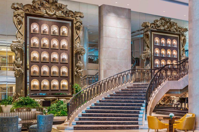 The St. Regis Mumbai Luxury Hotel - Mumbai, India - The Great Hall Grand Staircase