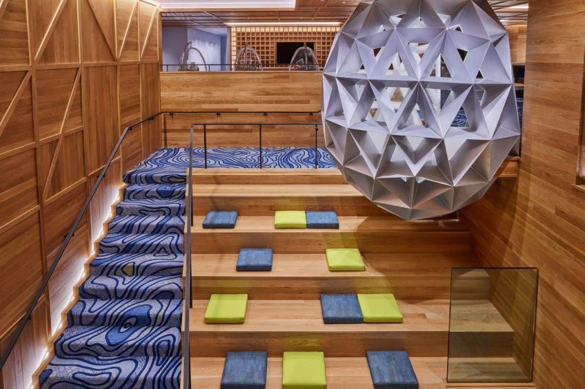 W Aspen Luxury Hotel - Aspen, CO, USA - Lobby The Mine Shaft Stairs