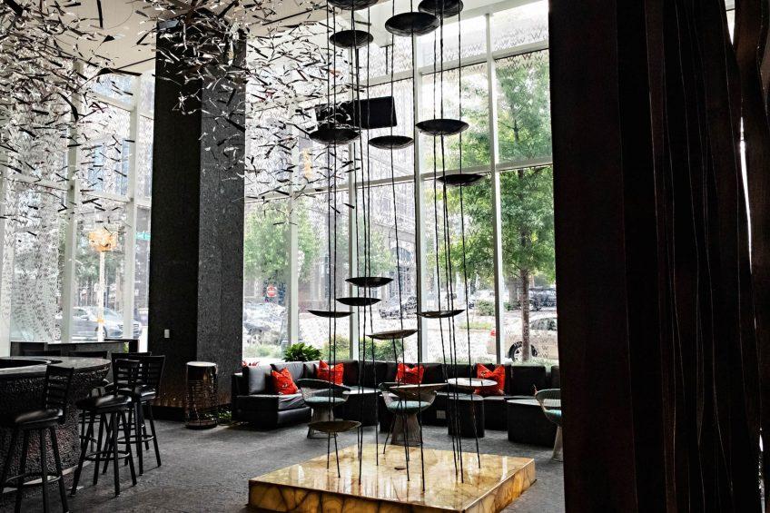 W Atlanta Downtown Luxury Hotel - Atlanta, Georgia, USA - Living Room Decor
