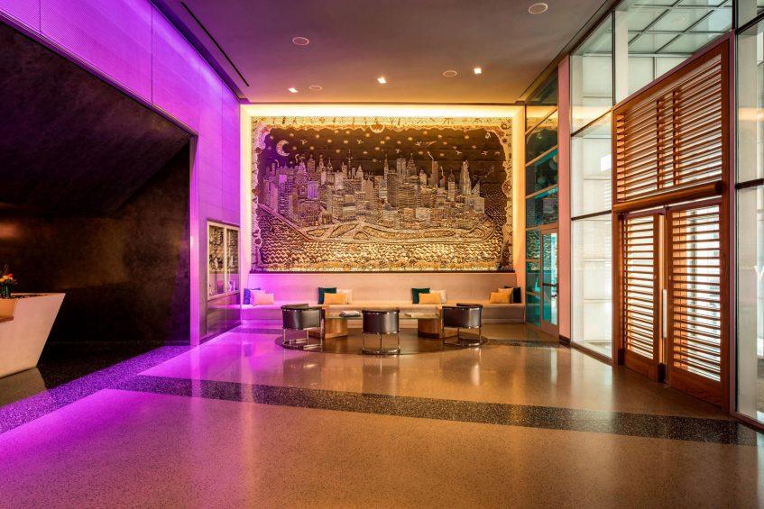 W Hoboken Luxury Hotel - Hoboken, NJ, USA - Lobby Living Room