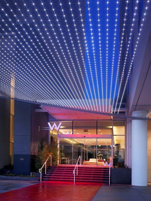 W Hollywood Luxury Hotel - Hollywood, CA, USA - W Hollywood Red Carpet Entrance