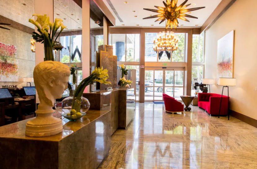 W Miami Luxury Hotel - Miami, FL, USA - Lobby Reception