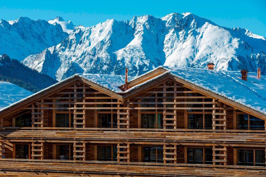 W Verbier Luxury Hotel - Verbier, Switzerland - Exterior Winter Mountain View