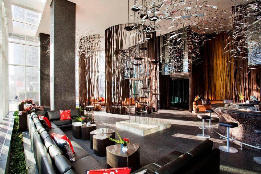 W Atlanta Downtown Luxury Hotel - Atlanta, Georgia, USA - Living Room