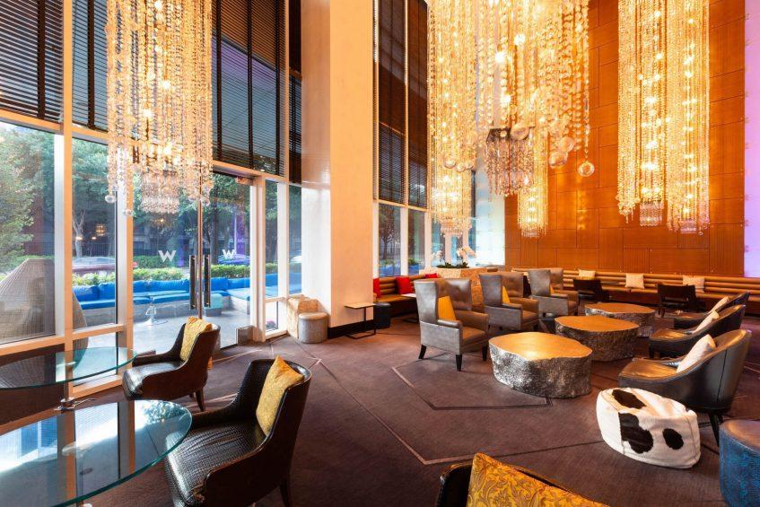 W Dallas Victory Luxury Hotel - Dallas, TX, USA - The Living Room Seating
