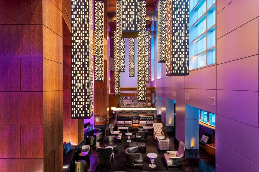W Hoboken Luxury Hotel - Hoboken, NJ, USA - Living Room Bar