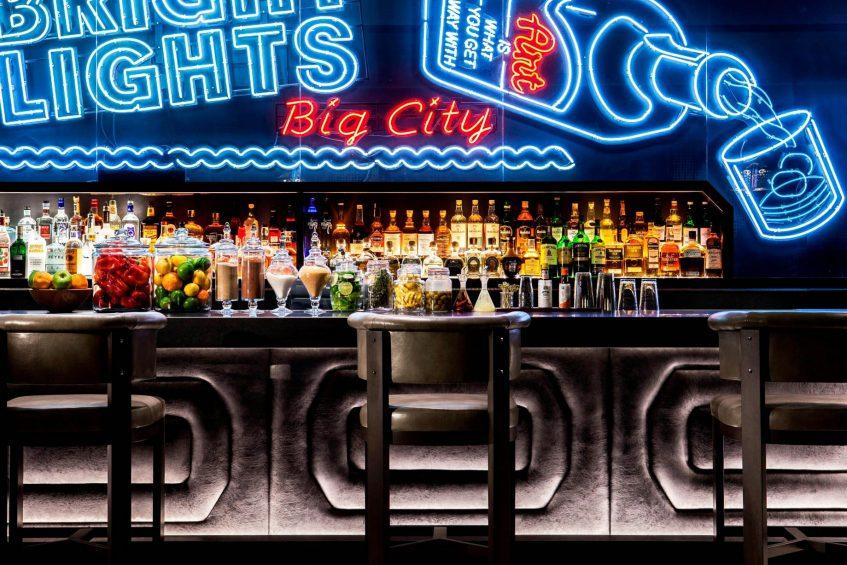 W New York Times Square Luxury Hotel - New York, NY, USA - Living Room Bar Stools