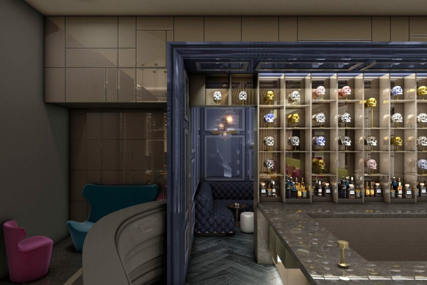 W Philadelphia Luxury Hotel - Philadelphia, PA, USA - Living Room Lounge VIP Room