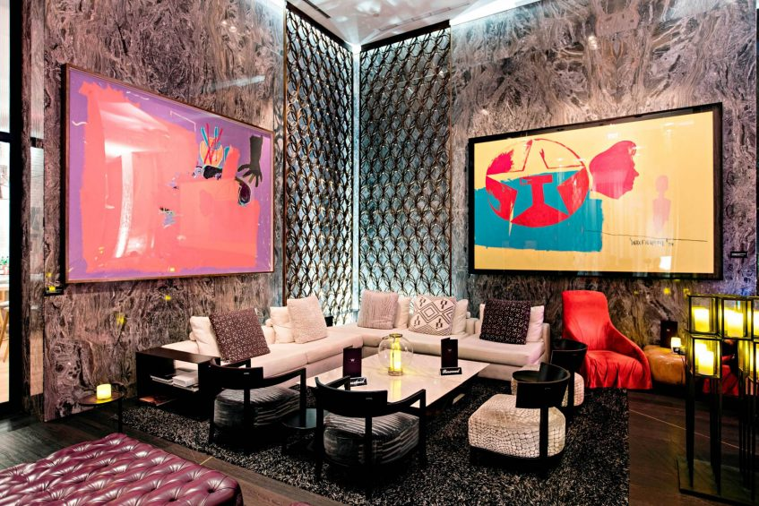W South Beach Luxury Hotel - Miami Beach, FL, USA - Living Room Bar Seating