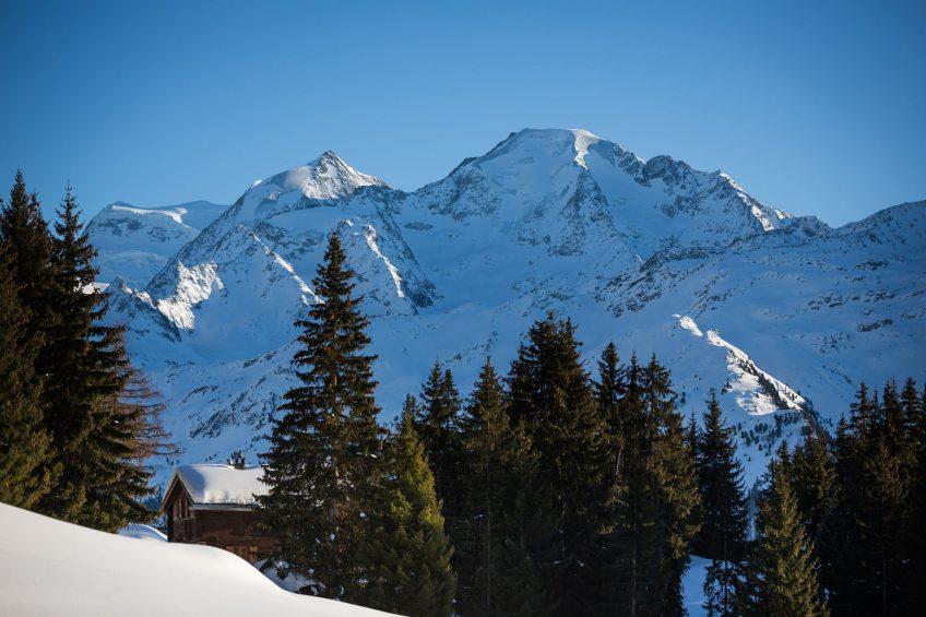 W Verbier Luxury Hotel - Verbier, Switzerland - Local Mountain Winter View