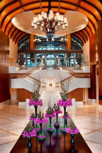 The St. Regis Sanya Yalong Bay Luxury Resort - Hainan, China - Grand Staircase Evening