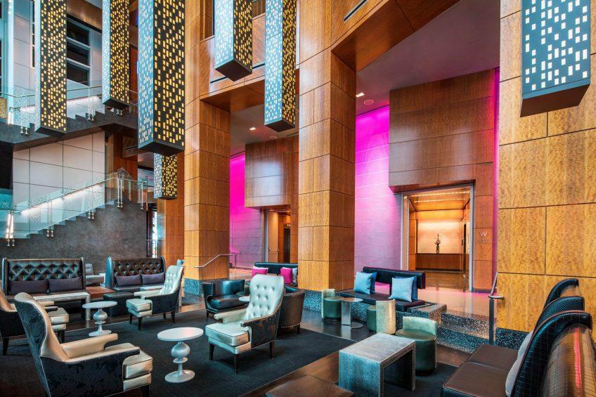 W Hoboken Luxury Hotel - Hoboken, NJ, USA - Living Room Seating