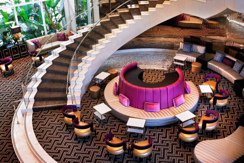 W Hollywood Luxury Hotel - Hollywood, CA, USA - Lobby Stairs