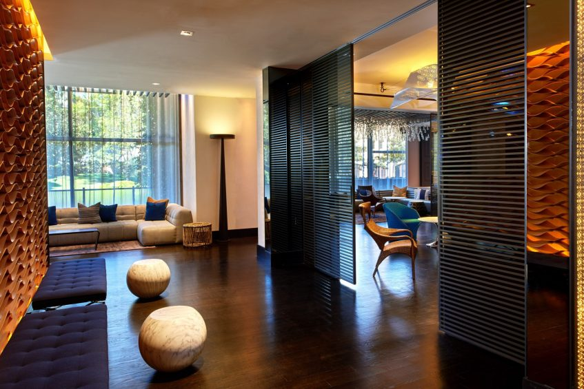 W Los Angeles West Beverly Hills Luxury Hotel - Los Angeles, CA, USA - Living Room Bar Entrance