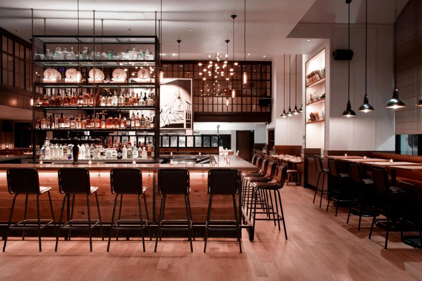 W New York Union Square Luxury Hotel - New York, NY, USA - Irvington Bar Seating