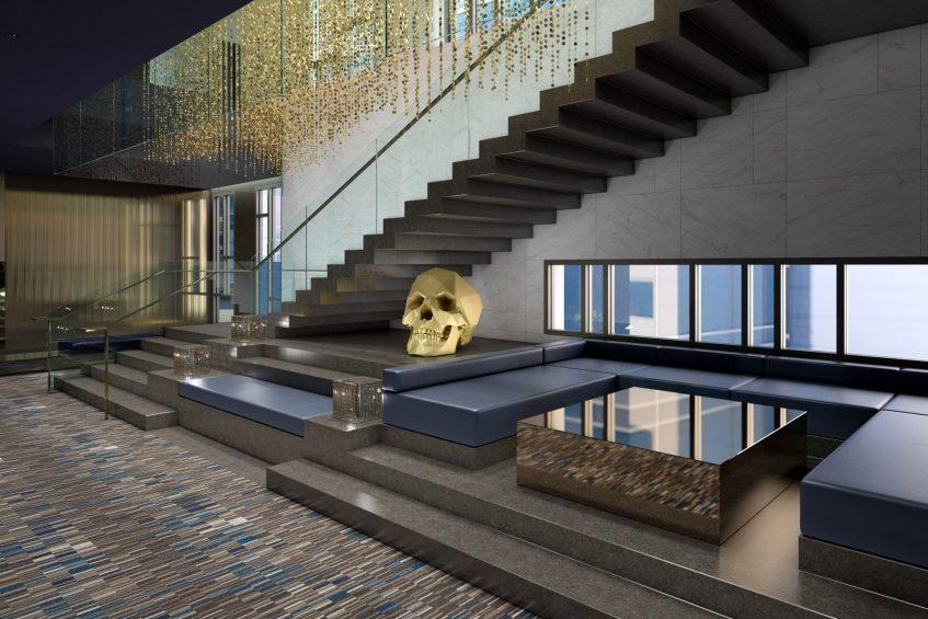 W Philadelphia Luxury Hotel - Philadelphia, PA, USA - Grand Staircase