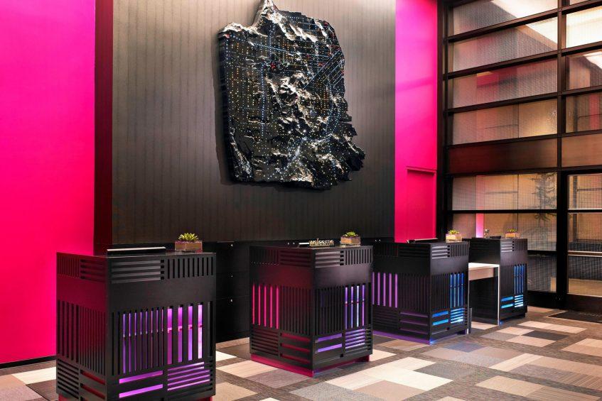 W San Francisco Luxury Hotel - San Francisco, CA, USA - Lobby Welcome Desk
