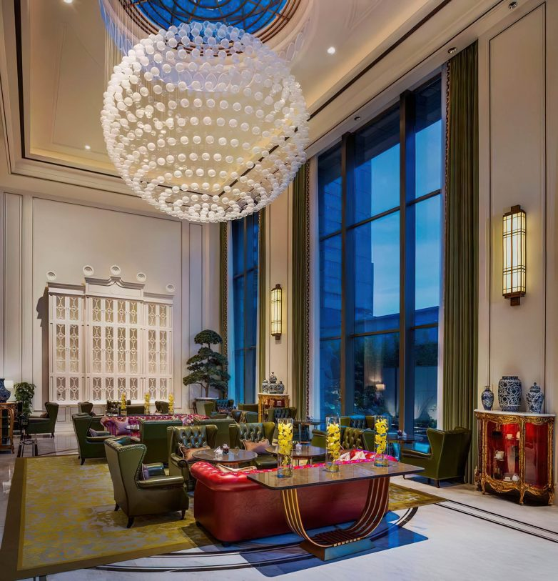 The St. Regis Shanghai Jingan Luxury Hotel - Shanghai, China - The Drawing Room Decor