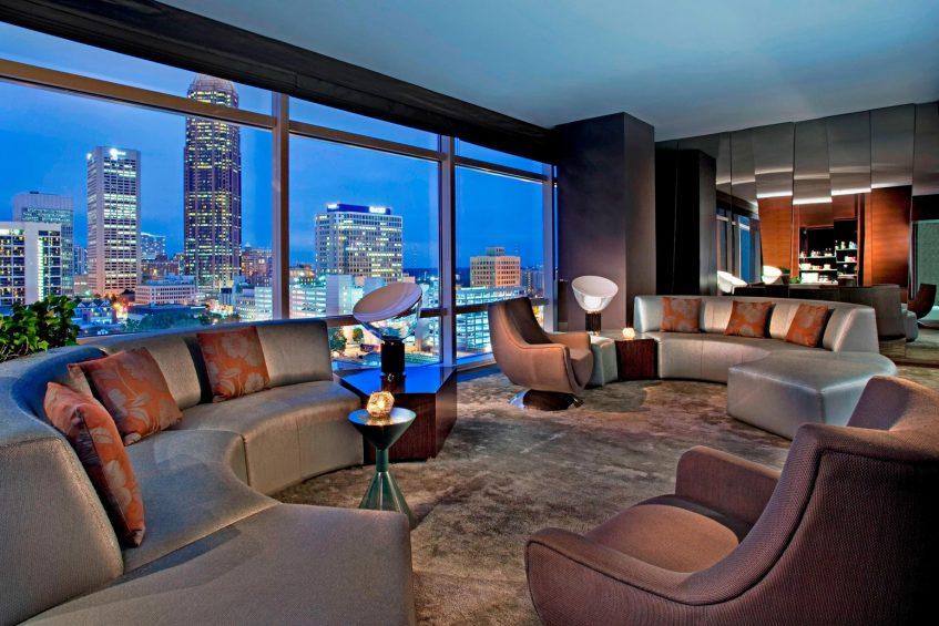 W Atlanta Downtown Luxury Hotel - Atlanta, Georgia, USA - E Wow Guest Room Living Area