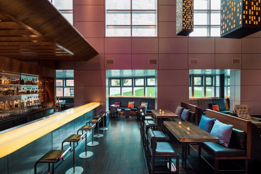 W Hoboken Luxury Hotel - Hoboken, NJ, USA - Living Room Bar Seating