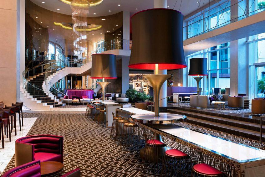 W Hollywood Luxury Hotel - Hollywood, CA, USA - Lobby Foyer