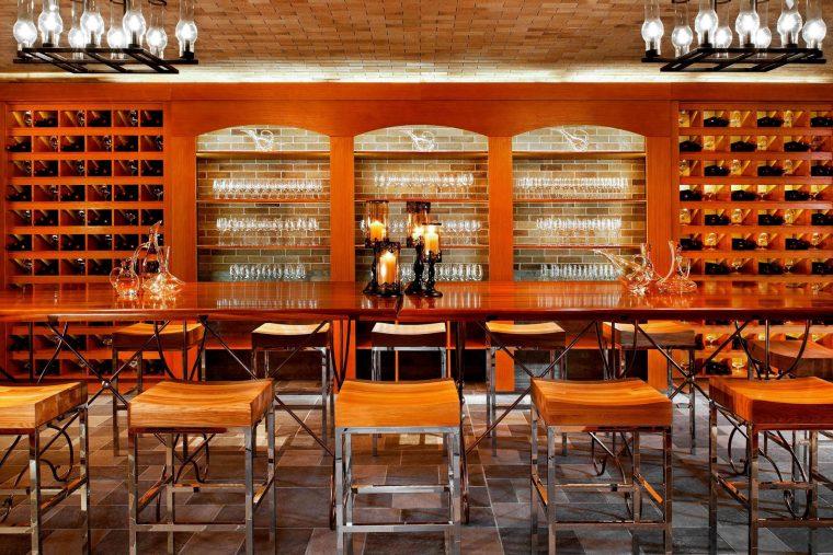 The St. Regis Sanya Yalong Bay Luxury Resort - Hainan, China - Decanter Wine Cellar Bar Stools