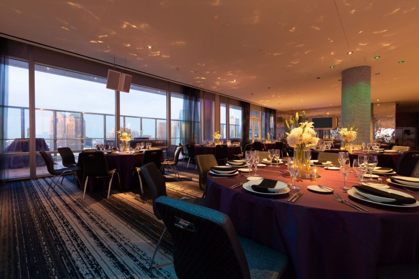 W Dallas Victory Luxury Hotel - Dallas, TX, USA - Altitude Room Banquet Setup