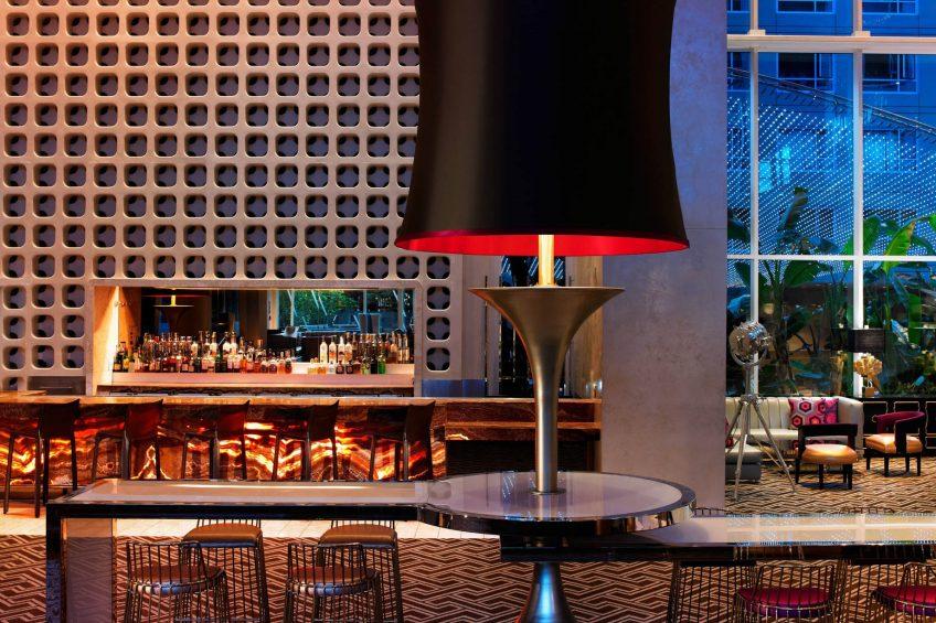 W Hollywood Luxury Hotel - Hollywood, CA, USA - Living Room Bar