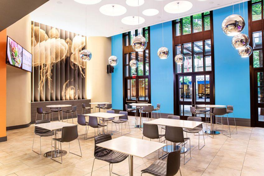 W Seattle Luxury Hotel - Seattle, WA, USA - TRACE Market Tables