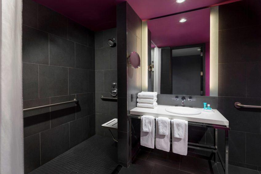 W Atlanta Downtown Luxury Hotel - Atlanta, Georgia, USA - Accessible Bathroom Shower