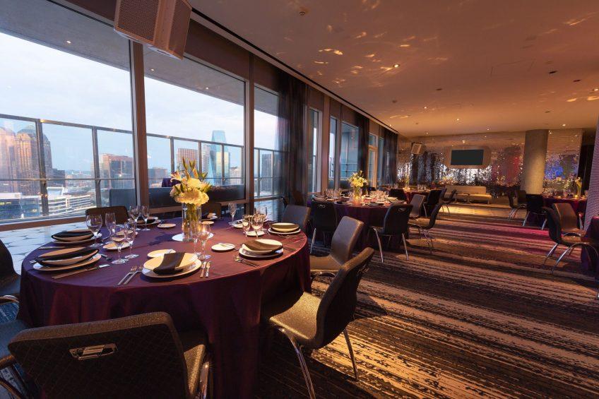 W Dallas Victory Luxury Hotel - Dallas, TX, USA - Altitude Banquet Room Setup_