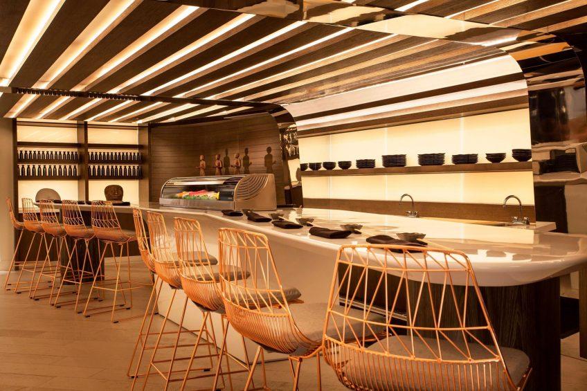 W Fort Lauderdale Luxury Hotel - Fort Lauderdale, FL, USA - Living Room Sushi Bar