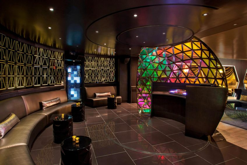 W New York Times Square Luxury Hotel - New York, NY, USA - Living Room DJ Booth Side Angle